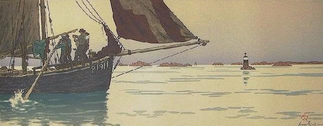 Анри (Henri) Ривьер (Rivière). Штиль (Le Calme Plat)