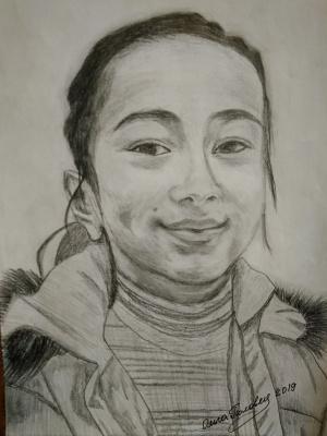 Olga Polovtsy. Portrait of a girl.