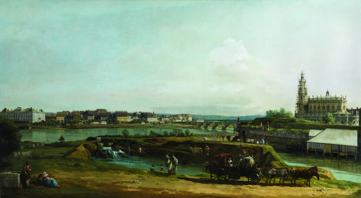 Bernardo Bellotto. Former fortresses in Dresden