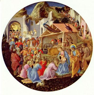 Fra Angelico. The adoration of the Magi, Tondo