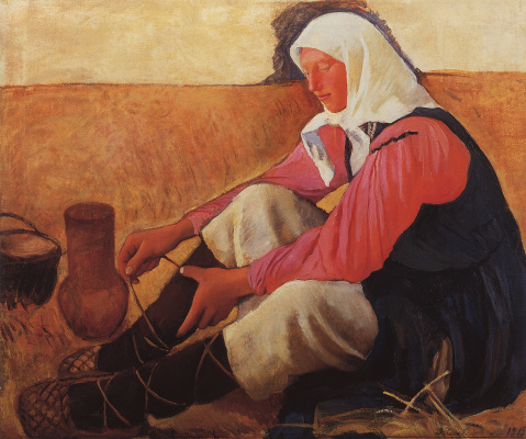 "Zinaida Serebryakova. Obviousas the woman. A sketch for the painting ""the Harvest"""