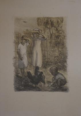 Alexandra Antonovna Gladun. Village children