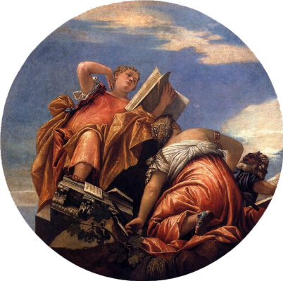 Paolo Veronese. Allegory of Astronomy and Harmony Pursuing Cheating