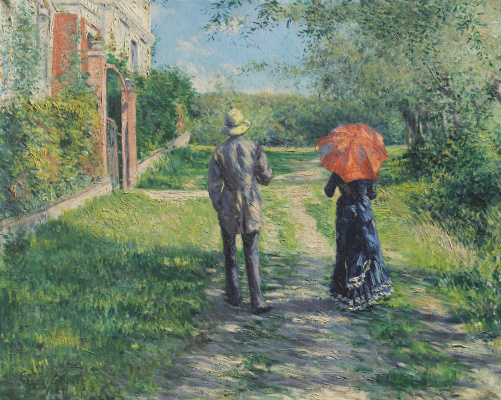 Gustave Caillebotte. Chemin montant
