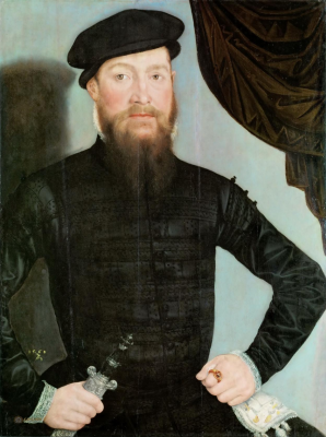 Lucas the Younger Cranach. Male portrait. Museum of Art History, Vienna.
