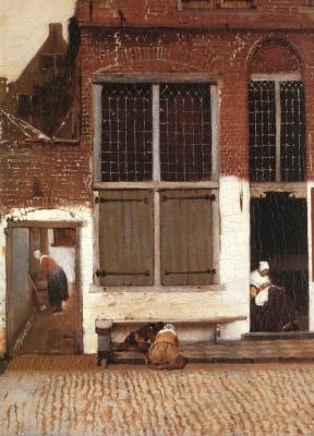 Ян Вермеер. Маленькая улица. Фрагмент