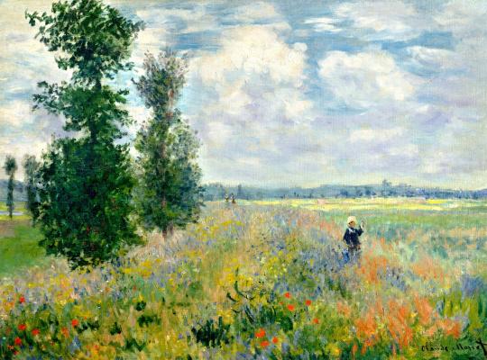 Claude Monet. Field of poppies, Argenteuil