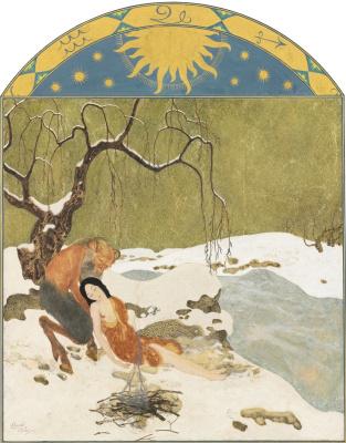 Эдмунд Дюлак. Времена года. Зима.   золото