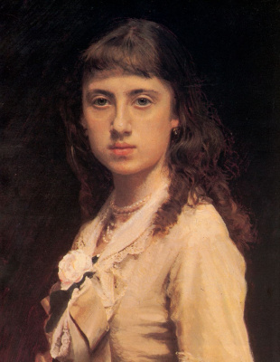 Ivan Nikolayevich Kramskoy. Portrait of the artist's daughter Sophia Kramskaya. Fragment