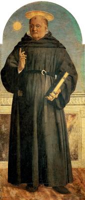 Piero della Francesca. Saint Nicholas Tolentine