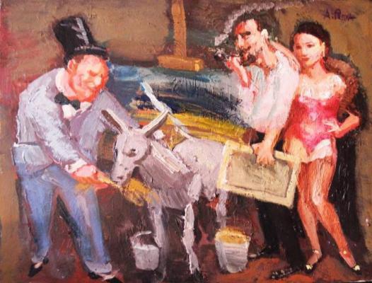 Alexander Repka. In the artist's studio