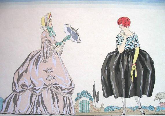 Жорж Барбье. Бабушка и внучка