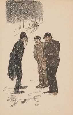Theophile-Alexander Steinlen. Snowfall