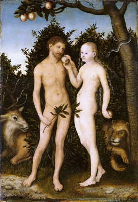 Lucas Cranach the Elder. Adam and eve