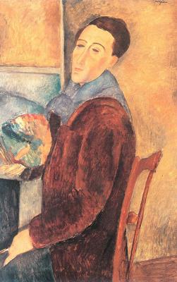 Амедео Модигилиани. Сидящий молодой человек