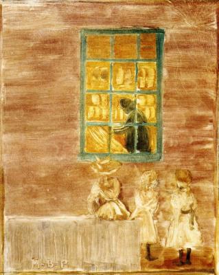 Maurice Braziel Prendergast. Children at the window