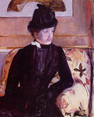 Mary Cassatt. Young woman in black (Portrait of Madame George.)