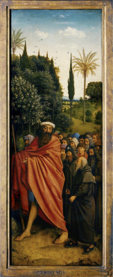 Ян ван Эйк. Гентский алтарь. Шествие пилигримов (фрагмент)