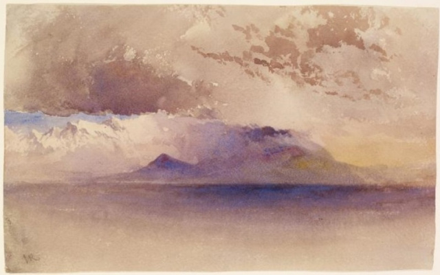 John Ruskin. View of the Gulf of Naples and Vesuvius