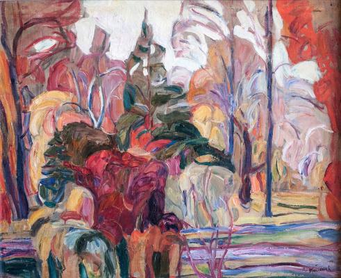 Абрам Аншелевич Маневич. Autumn scene