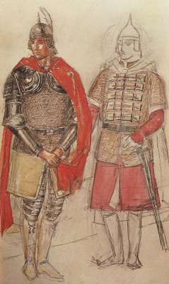 "Kuzma Sergeevich Petrov-Vodkin. Costume design for the tragedy of Pushkin's ""Boris Godunov"""