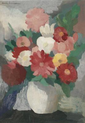 Мари Лорансен. Ваза с цветами