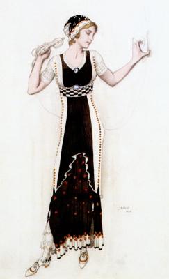 Lev Samoilovich Bakst (Leon Bakst). Atalanta. Modern Costume Fantasy