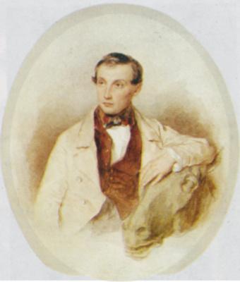 Петр Федорович Соколов. Портрет скульптора Клодта