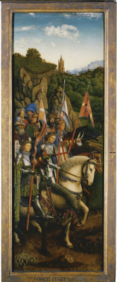Jan van Eyck. The Ghent altarpiece. Army of Christ (fragment)