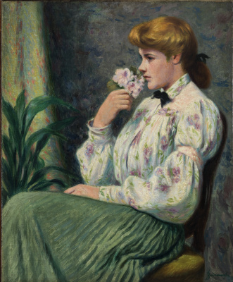 Федерико Дзандоменеги. Портрет девушки с цветком