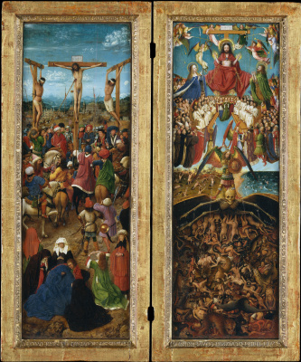 Jan van Eyck. Diptych. The crucifixion and the last judgment
