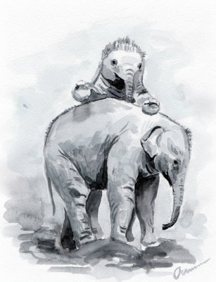 Ekaterina Viktorovna Osipovich. Baby Elephants