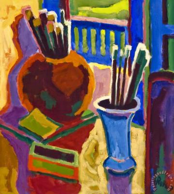 Karl Schmidt-Rottluff. Paint brushes