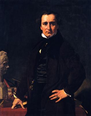 Jean Auguste Dominique Ingres. The Sculptor Lorenzo Bartolini