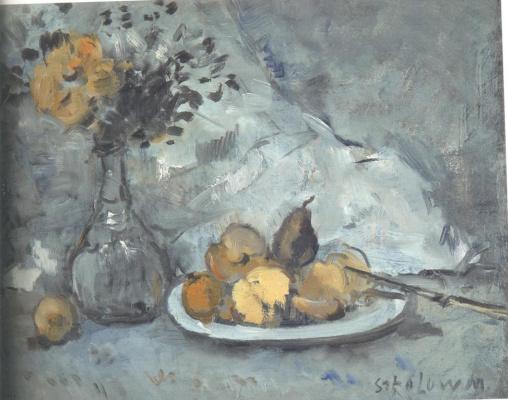 Михаил Ксенофонтович Соколов. Цветы и фрукты
