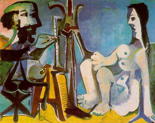 Pablo Picasso. The artist and the model