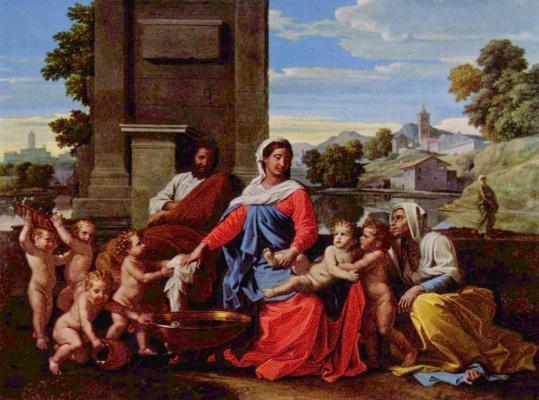 Nicola Poussin. Holy family