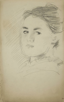 John Singer Sargent. Head of a young woman