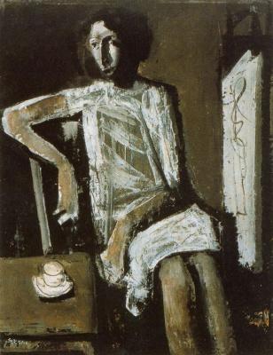 Марио Сирони. Женщина пьет чай