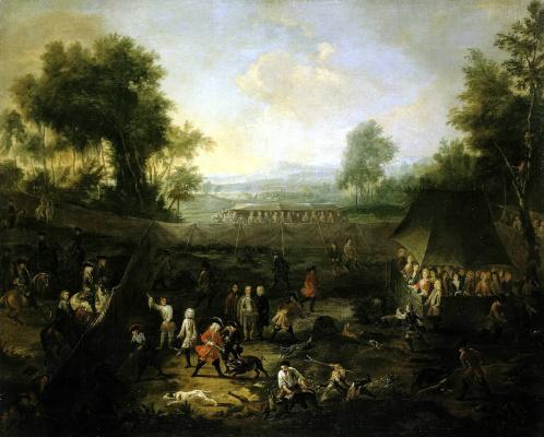 Ян Питер ван Младший Бредаль. Охота на кабанов