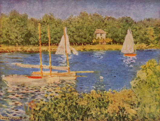 Claude Monet. Backwater on the Seine near Argentea