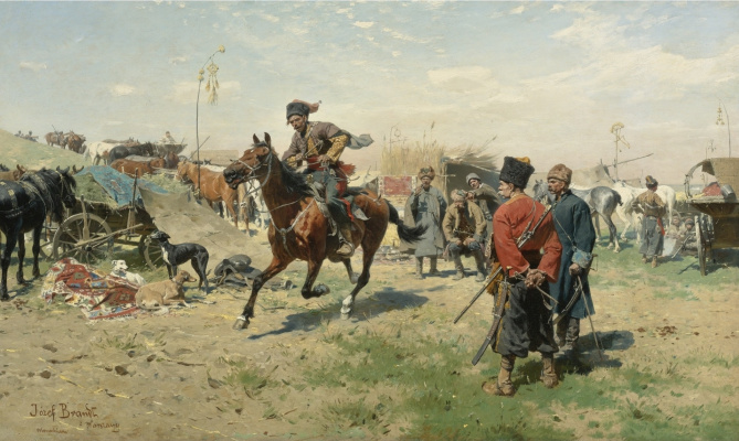 Йозеф фон Брандт. Запорожцы