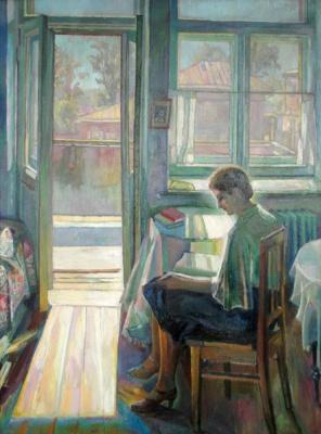 Алексей Петрович Жибинов. У  двери балкона