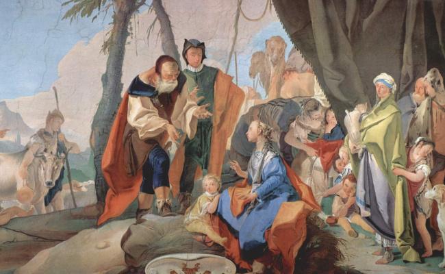 Джованни Баттиста Тьеполо. Rachel hiding idols from her father. Fragment