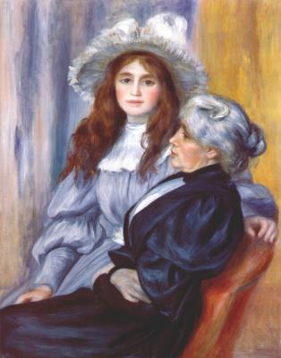 Pierre-Auguste Renoir. Berthe Morisot and her daughter Julie Manet