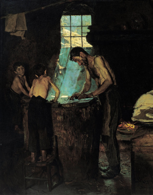 Peder Severin Kreyer. Italian village hatters