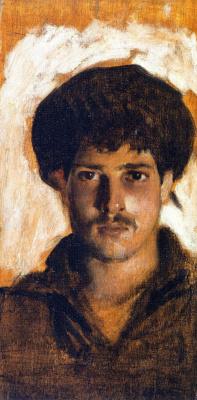 Джон Сингер Сарджент. Портрет моряка (голова молодого мужчины)