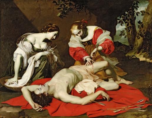 Nikolo Reniery. St Sebastian Tended by the Holy Irene