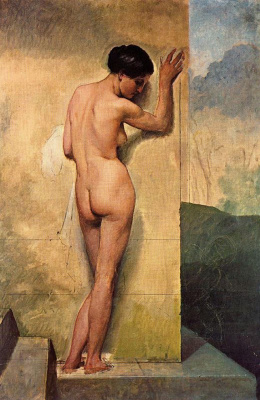 Francesco Ayets. Naked at the wall