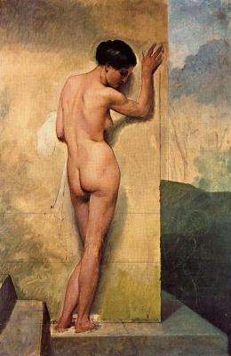 Франческо Айец. Обнаженная у стены